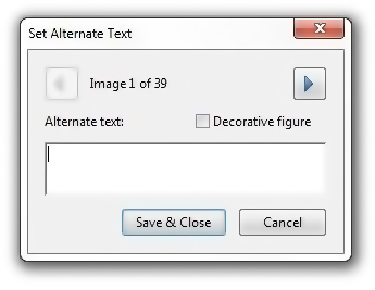 Set Alt Text dialog box