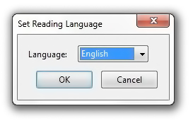 Set Reading Language Dialog Box